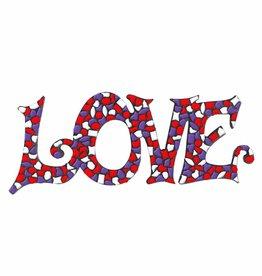 Mozaiek pakket LOVE Wit-Paars-Rood Premium