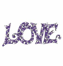 Mozaiek pakket LOVE Wit-Paars-Violet Premium