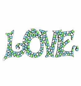 Mozaiek pakket LOVE Wit-Lichtgroen-Lichtblauw Premium