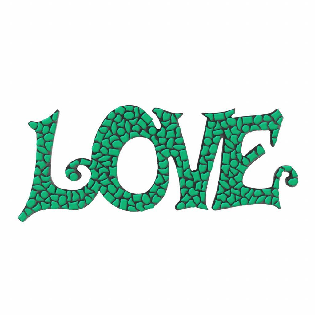 Cristallo LOVE Donkergroen Mozaiek pakket PREMIUM