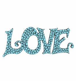 Mozaiek pakket LOVE Lichtblauw Premium