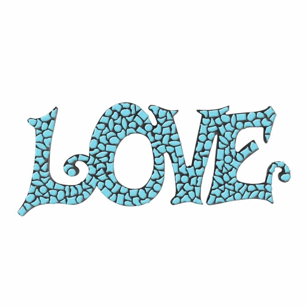 LOVE Lichtblauw Mozaiek pakket PREMIUM