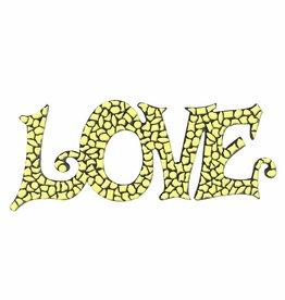 Cristallo Mozaiek pakket LOVE Geel Premium