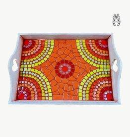 Mozaiekpakket Dienblad Castella Rood-Oranje-Geel