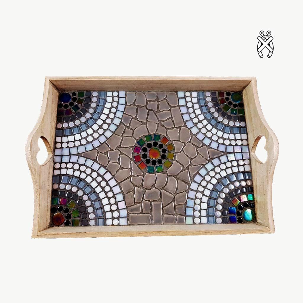 Mozaiekpakket Dienblad Castella Zwart-Wit-Grijs
