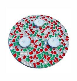 Mozaiek pakket Waxinelichthouder Kerst