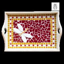 Mozaiekpakket Dienblad Libello Rood-Oranje-Wit