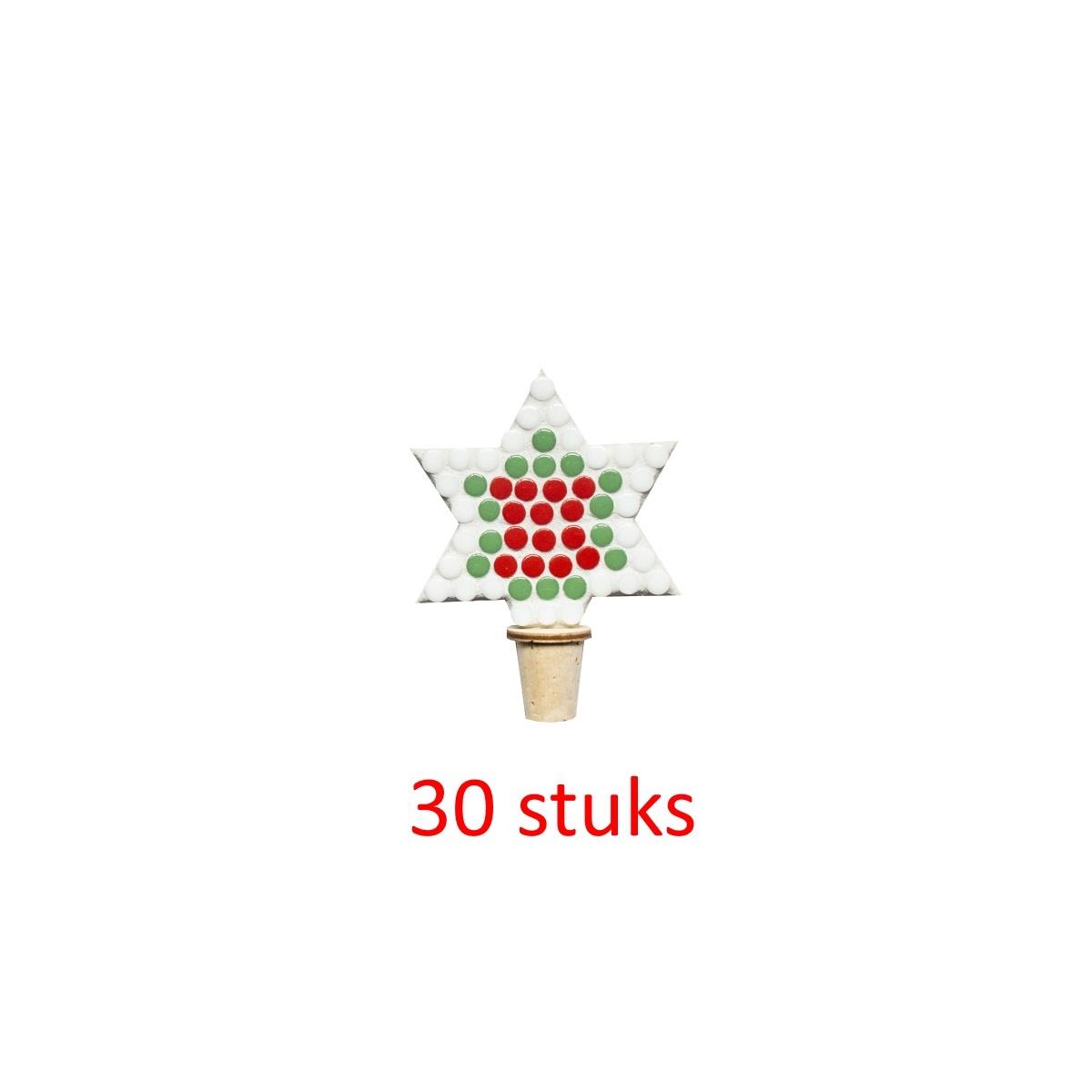 Flessenstop Ster Kerst 30 stuks