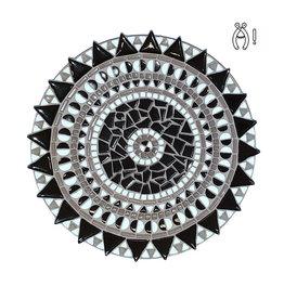 Mozaiek schaal Spinner Zwart-Wit