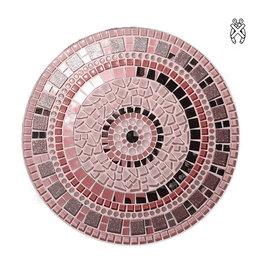 Mozaiek schaal Twinkle zilver-roze