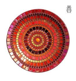 Mozaiek schaal Glorie rood-oranje