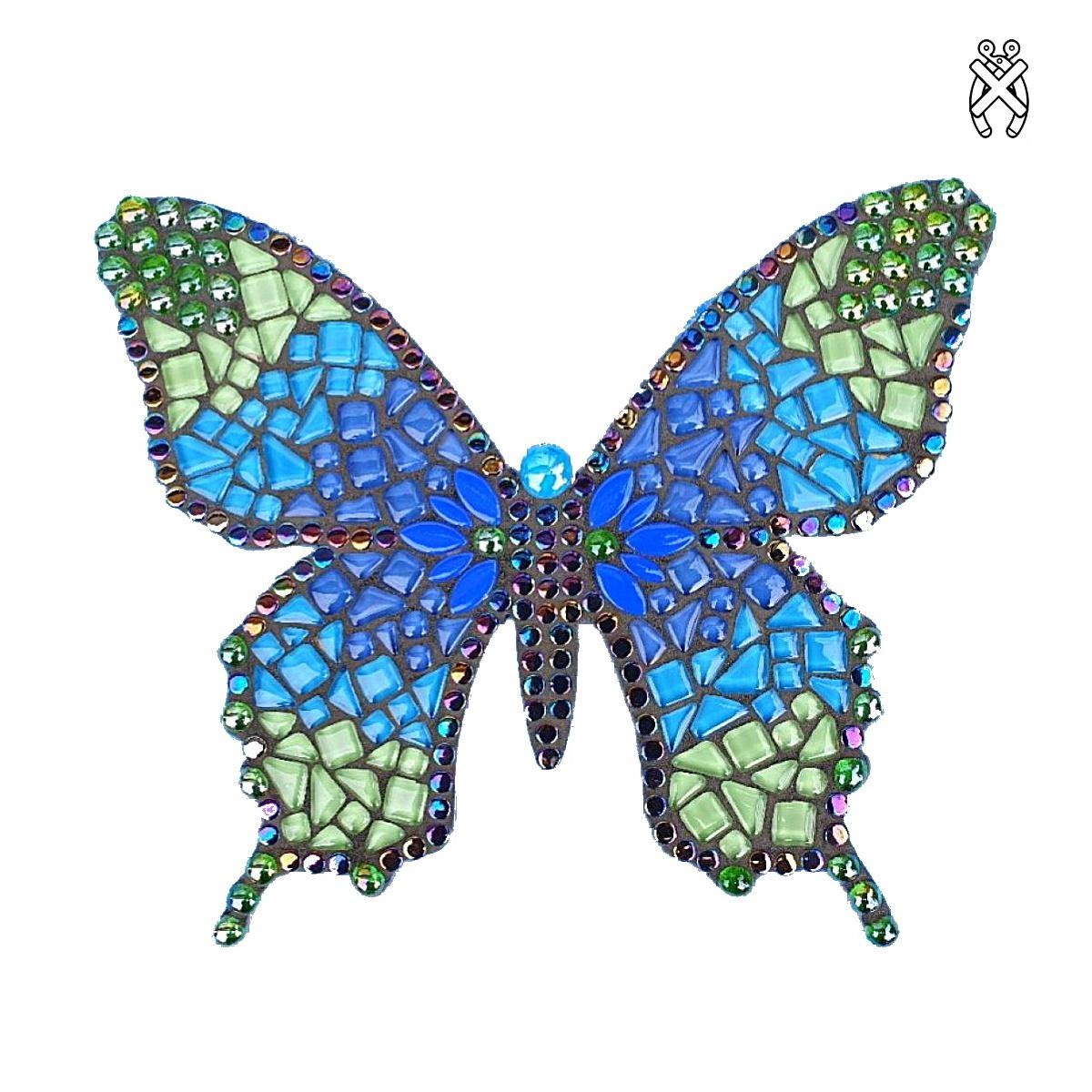 Mozaiekpakket Vlinder Sulki Blauw/Groen