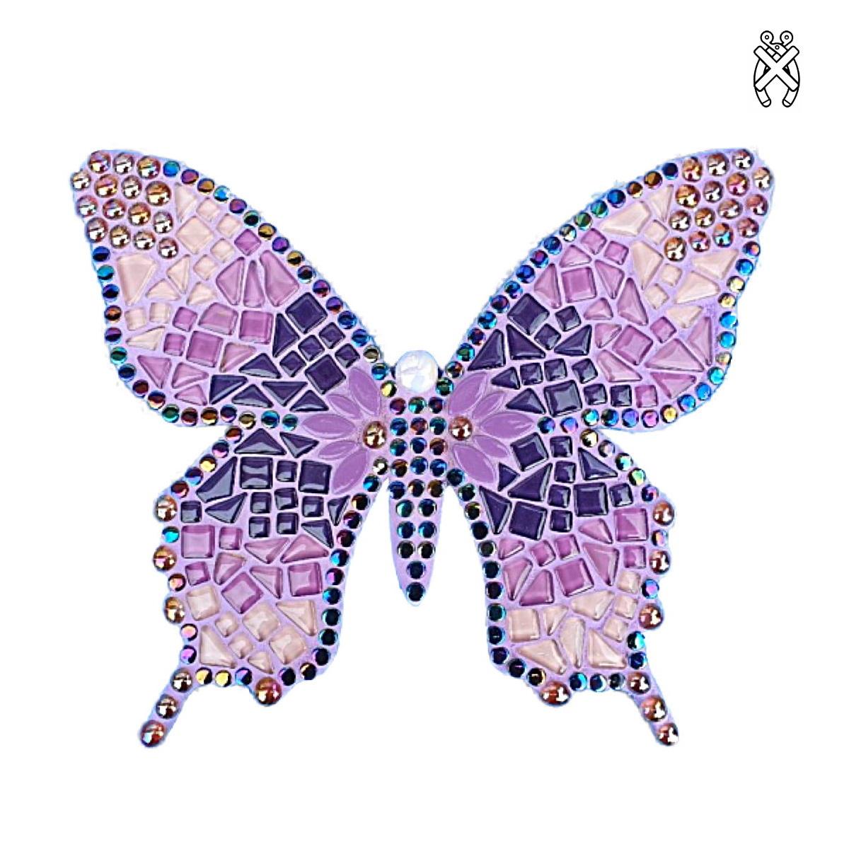 Mozaiekpakket Vlinder Sulki Paars/Rose