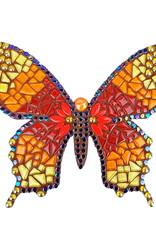 Mozaiekpakket Vlinder Sulki Rood/Geel