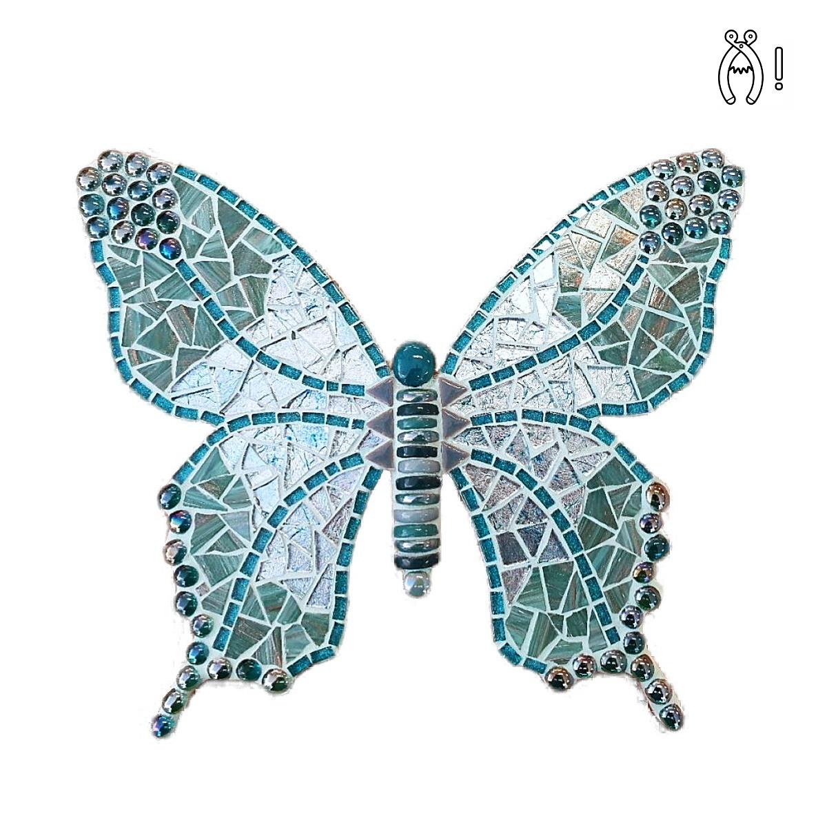 Mozaiekpakket Vlinder Withy Turquoise