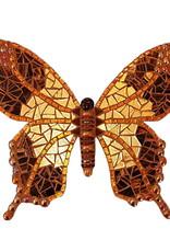 Mozaiekpakket Vlinder Withy Bruin/Goud