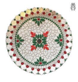 Mozaiek schaal Christmas Leavy