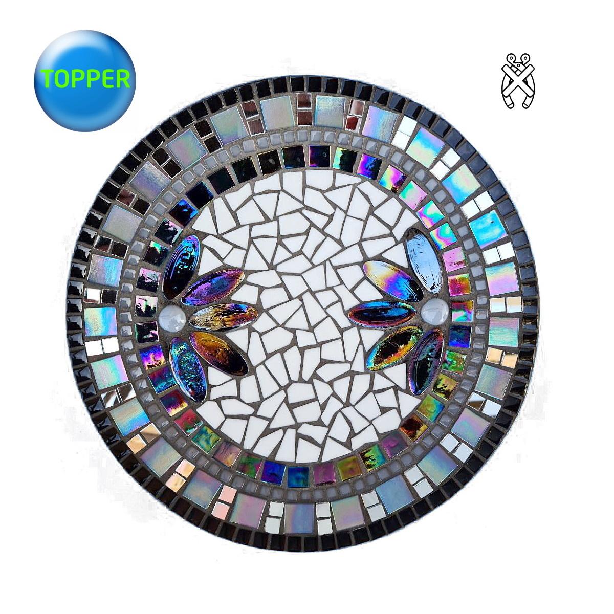 Mozaiek schaal Lotus Zwart