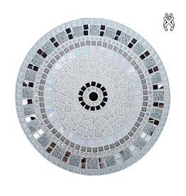 Mozaiek schaal Twinkle zilver-wit