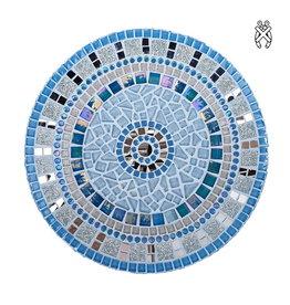 Mozaiek schaal Twinkle zilver-blauw
