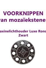 VOORKNIPPEN waxinelichthouder Luxe Rondo Zwart
