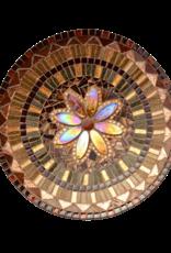 Mozaiek schaal Pracht bruin-goud