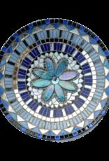 Mozaiek schaal Pracht blauw-zilver