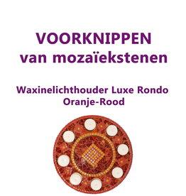 VOORKNIPPEN waxinelichthouder Luxe Rondo Oranje-Rood