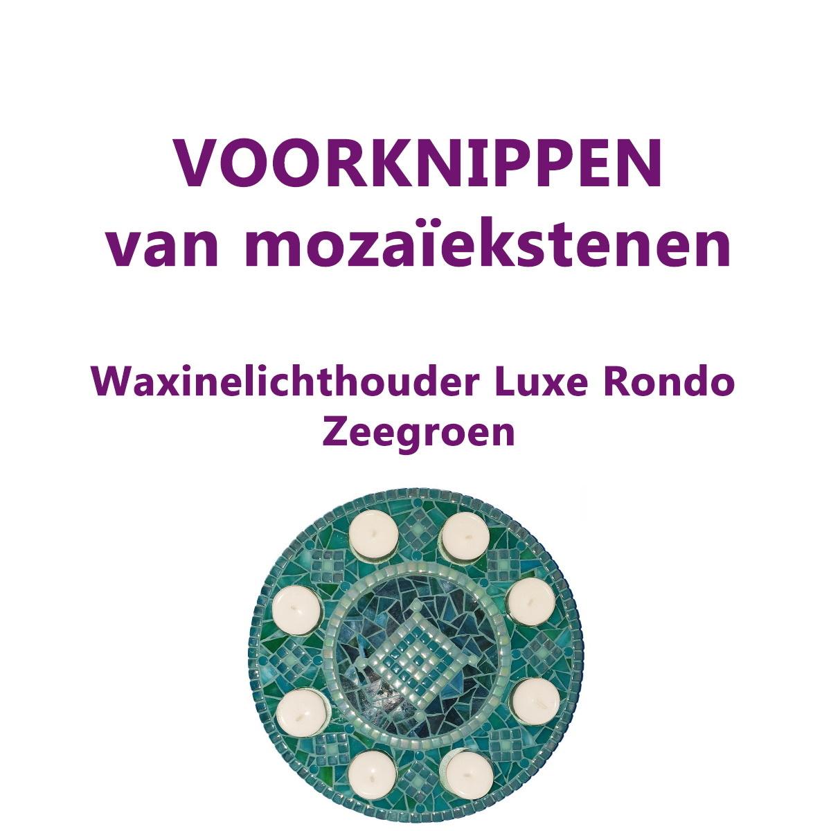 VOORKNIPPEN waxinelichthouder Luxe Rondo Zeegroen