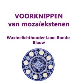 VOORKNIPPEN waxinelichthouder Luxe Rondo Blauw