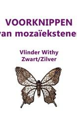 VOORKNIPPEN Vlinder Withy Zwart/Zilver