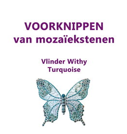 VOORKNIPPEN Vlinder Withy Turquoise