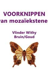 VOORKNIPPEN Vlinder Withy Bruin/Goud