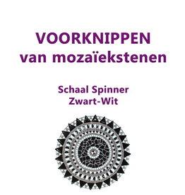 VOORKNIPPEN schaal Spinner Zwart-Wit