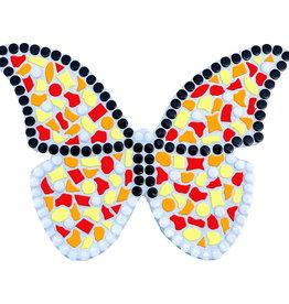 Mozaiek pakket Vlinder Geel-Rood-Oranje
