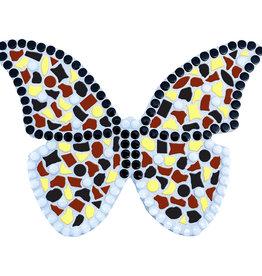 Mozaiek pakket Vlinder Geel-Zwart-Bruin