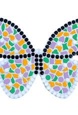 Mozaiek pakket Vlinder Oranje-Violet-Donkergroen