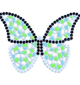 Mozaiek pakket Vlinder Wit-Lichtgroen-Lichtblauw