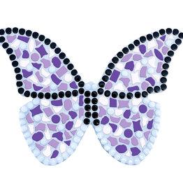 Mozaiek pakket Vlinder Wit-Paars-Violet