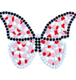 Mozaiek pakket Vlinder Wit-Rood-Rose