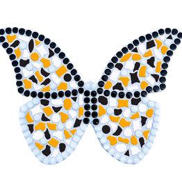 Mozaiek pakket Vlinder Wit-Zwart-Oranje