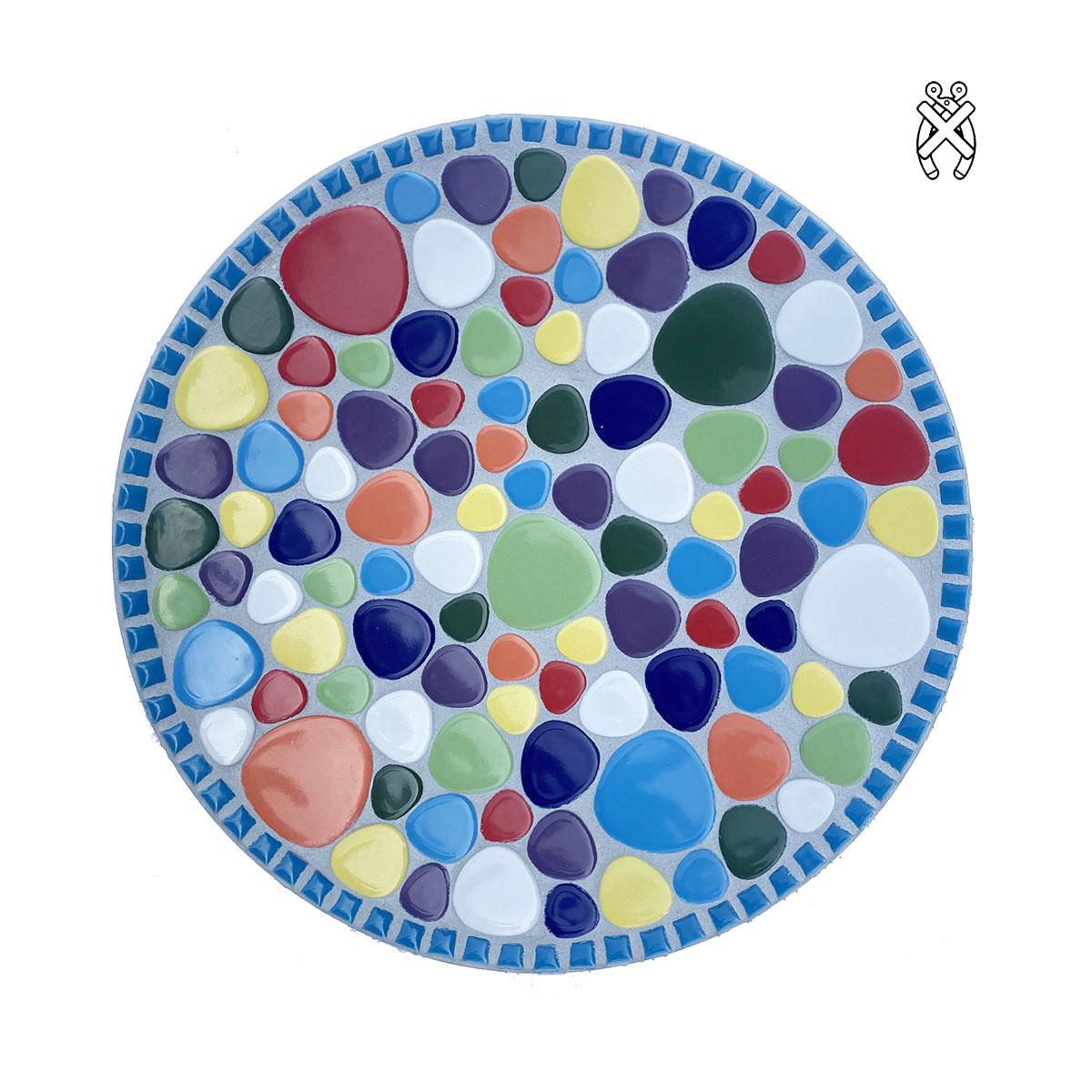 Mozaiek schaal Bubbles Fiestaval