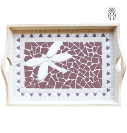 Mozaiekpakket Dienblad Libello Paars-Rose-Wit