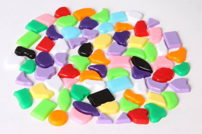 Kunststof mozaieksteentjes 500 gram
