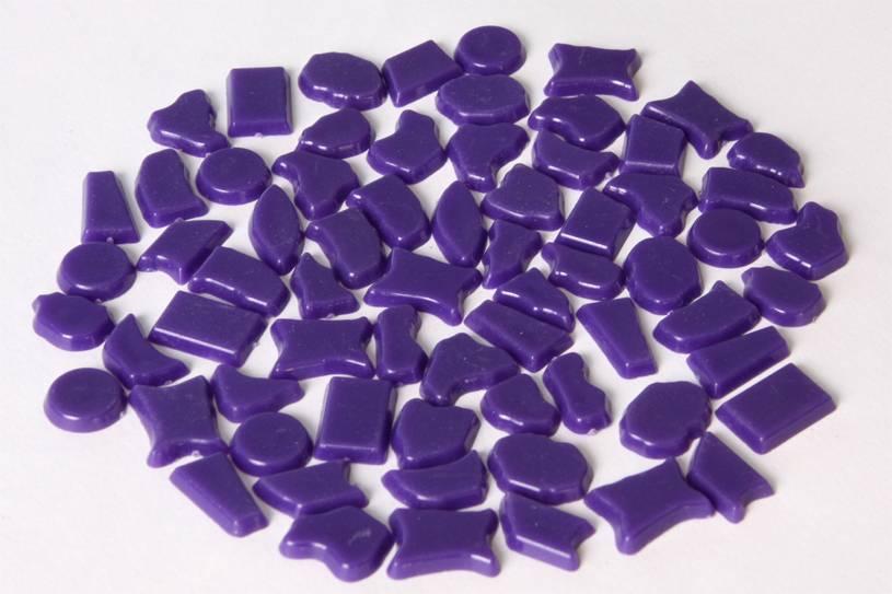 Kunststof mozaieksteentjes ca. 500 gram PAARS