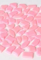 Kunststof mozaieksteentjes ca. 500 gram ROZE