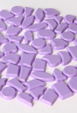 Kunststof mozaieksteentjes ca. 500 gram VIOLET