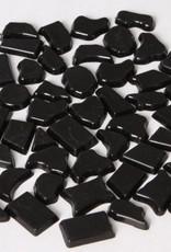 Kunststof mozaieksteentjes ca. 500 gram ZWART