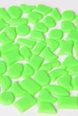 Kunststof mozaieksteentjes ca. 70 gram LICHTGROEN