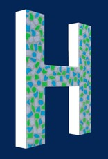 Mozaiekpakket Letter H Fris